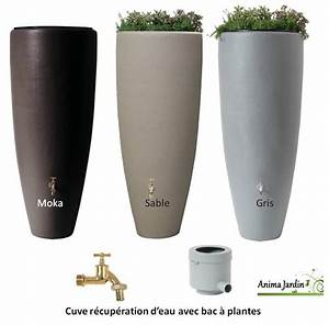 Petit Recuperateur Eau De Pluie : r cup rateur d 39 eau de pluie 300 litres 2 en 1 avec bac ~ Premium-room.com Idées de Décoration