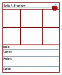 preschool lesson planning template free printables no With daily lesson plan template for kindergarten