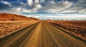 Rural Road In Mackenzie Country Near Lake Tekapo
