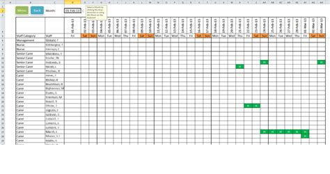 monthly roster template task list templates