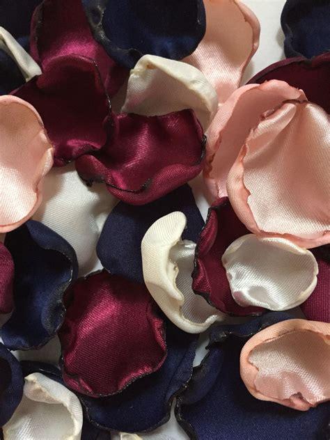 blush pink marsala maroon ivory navy blue flower