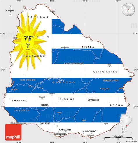 flag simple map  uruguay