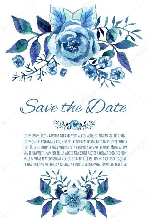 fotos rosas azules en acuarela invitacion de la
