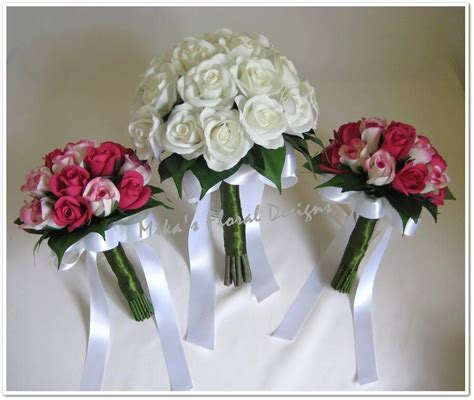 bridesmaids artificial wedding flowers  bouquets