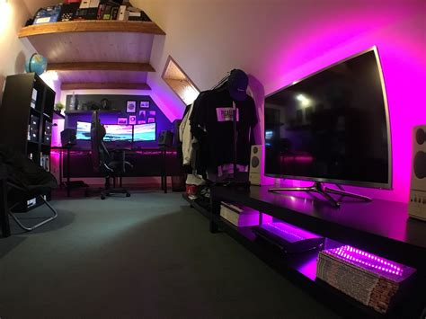 console gaming setup ideas video game  room  pc