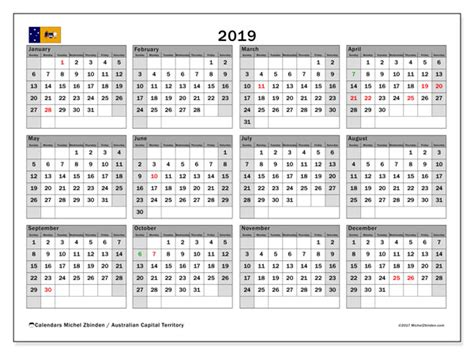 calendar australian capital territory australia michel zbinden en