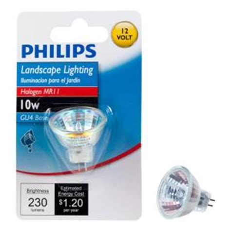 philips 10 watt halogen mr11 12 volt landscape lighting