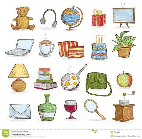 gospodarstwo domowe przedmioty ilustracja wektor