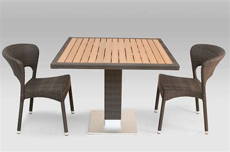 40 quot x 40 quot faux teak outdoor table top with wicker edge