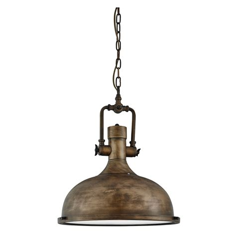 black gold industrial pendant light with frosted diffuser