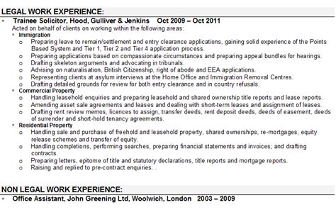 solicitor cv sample