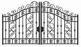 Gate Gates Iron Template Fence Designs Coloring Welcome Pages Sketch Driveway Templates Service sketch template