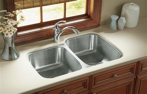 clean stainless steel kitchen sink the suggested way to clean stainless steel sinks the
