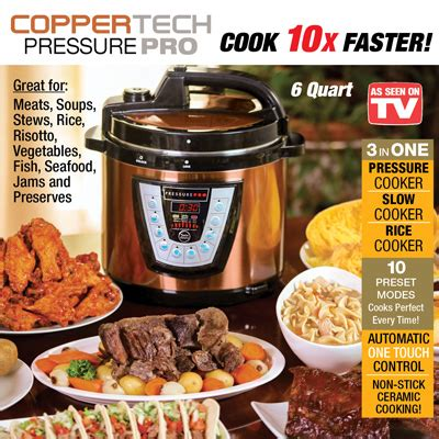 coppertech pressure pro deluxe pressure cooker  collections