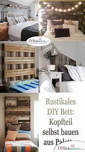 Kopfteil Bett Selber Bauen : rustikales diy bett kopfteil selbst bauen aus paletten ~ A.2002-acura-tl-radio.info Haus und Dekorationen