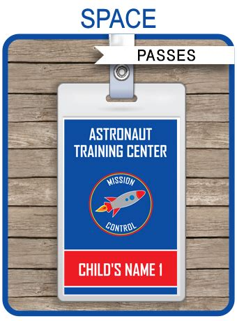 space party astronaut training passes party favors