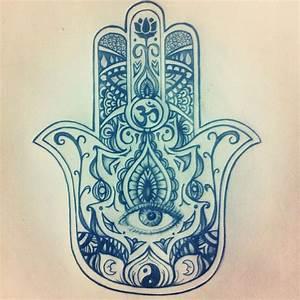 My original Hamsa drawing for a tattoo. | • My Artwork ...