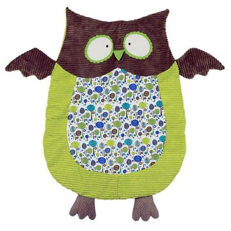 baby nap mat green brown owl nap mat boy s belly blanket maison chic