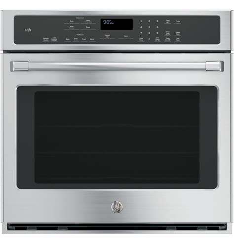 ge cafe series  built  single convection wall oven