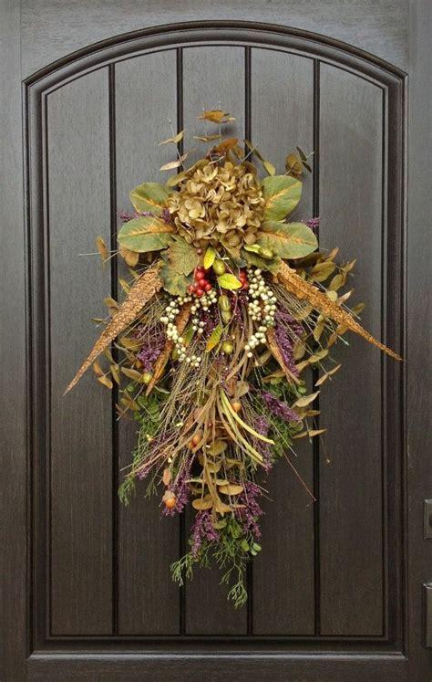 fall wreath autumn wreath teardrop vertical door swag decor on etsy 75 00 wreaths front