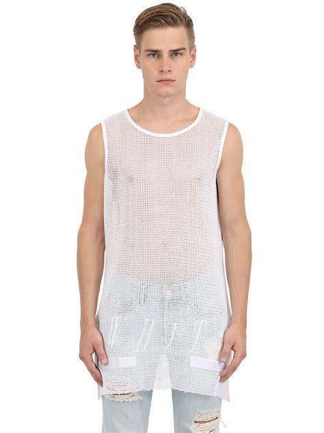 Off-White c/o Virgil Abloh Oversized Net Tank Top in White ...