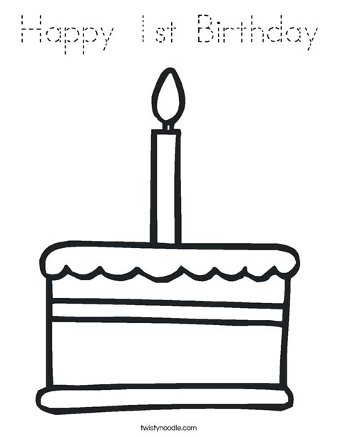 happy st birthday coloring page tracing twisty noodle