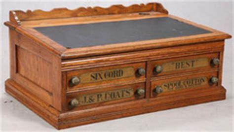 cabinet spool j p coats oak 4 drawers lift top 30 inch