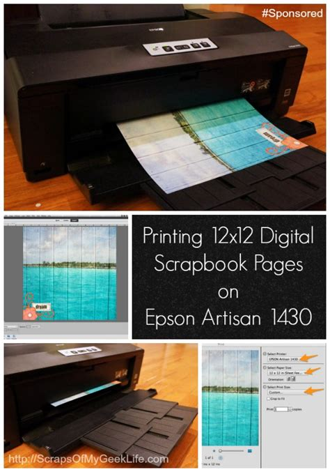 Printing 12x12 Digital Scrapbook Pages On Epson 1430 ...