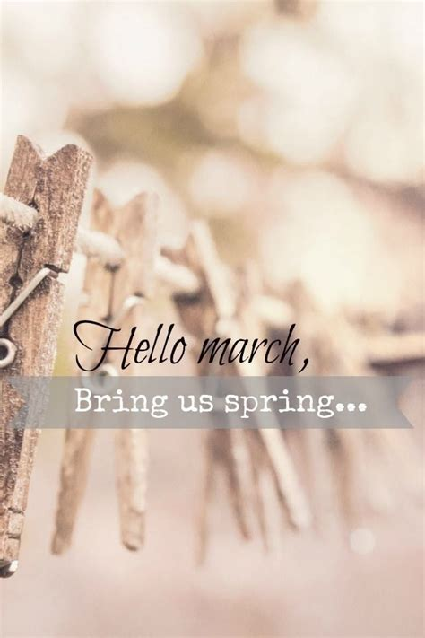 Hello March Bring Us Spring Pictures, Photos, and Images ...
