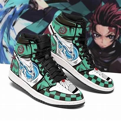 Tanjiro Sneakers Slayer Demon Jordan Boots Costume