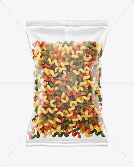 Choose from the many styles and designs available on placeit! Frosted Plastic Bag With Tricolor Tortiglioni Pasta Mockup ...
