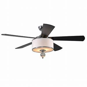 Exceptional chrome ceiling fan with light allen roth