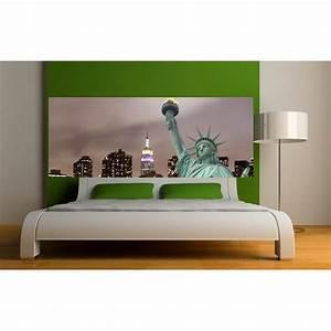 Papier Peint Sticker : papier peint t te de lit statue de la libert art d co ~ Premium-room.com Idées de Décoration