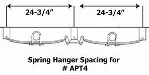 Hanger Spacing For Tandem