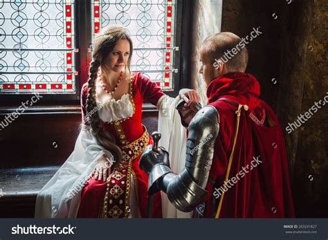 A Young Knight Making The Promise To His Lady Of Heart