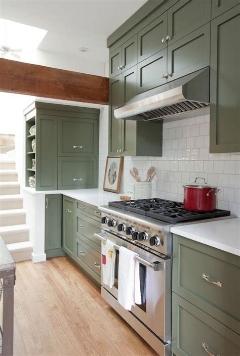 green kitchen cabinets green cabinets green kitchen and cabinets on Olive
