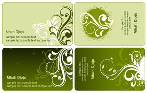 template kartu nama warna hijau belajar coreldraw