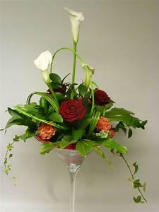 Centre De Table Mariage : centre de table en vase martini fleurs pour mariage en ~ Melissatoandfro.com Idées de Décoration