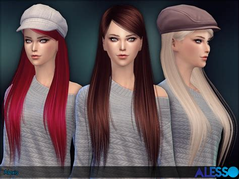 alexis straight long hair  alesso  tsr sims  updates