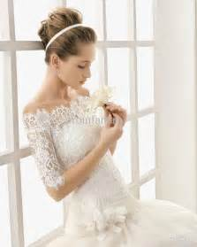 lace dresses for wedding vintage lace the shoulder wedding dress with sleeves sang maestro