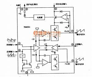 Tda8351 Integrated Block Internal Box Circuit