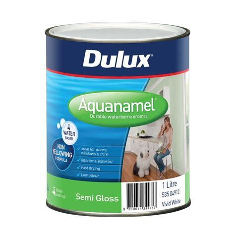 dulux aquanamel 1l white semi gloss enamel paint