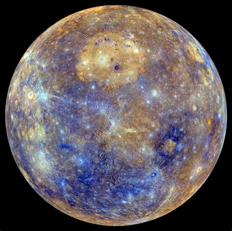 what color is mercury the planet mercury universe today