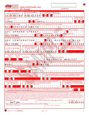 medical disability forms california edd disability red form fill online printable fillable
