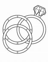 Coloring Wedding Ring Pages Rings Printable Diamond Colouring Print Books Engagement sketch template