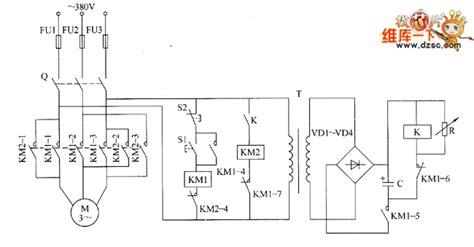 motor brake circuit diagram electrical equipment circuit