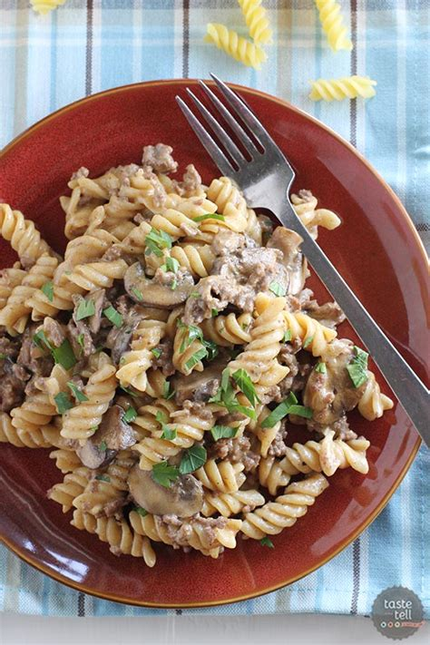 hamburger dishes for dinner one pot ground beef stroganoff taste and tell