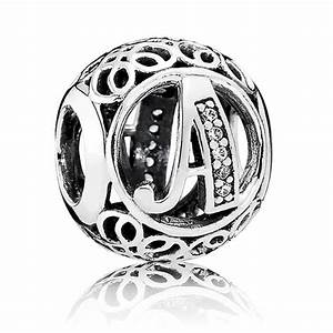 pandora vintage letter a charm 791845cz from gift and wrap uk With pandora vintage letter charms