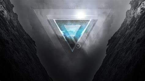 wallpaper triangles mountains dark perrin sequence