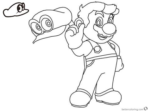 Odyssey Coloring Pages Mario Pictures To Pin On Pinterest